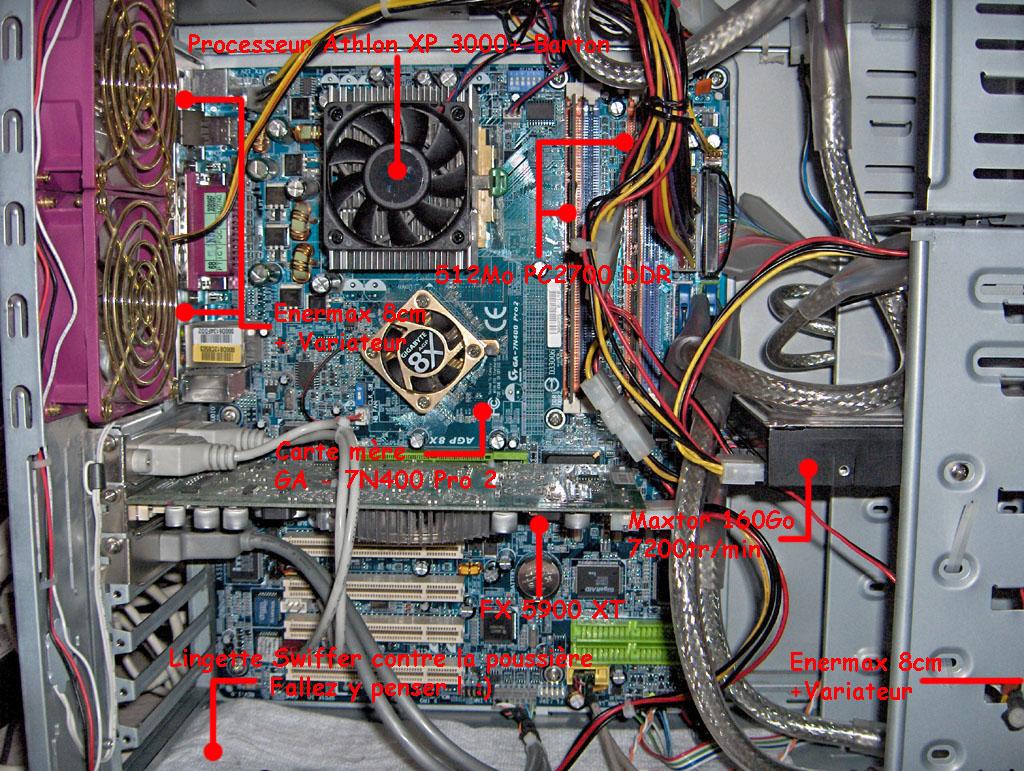 Refroidissement que faire et que choisir - Interieur d un ordinateur ...